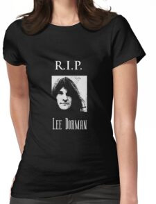 R.I.P. Lee Dorman Womens Fitted T-Shirt