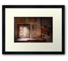 Graphic Artist - The life of a proofer  Framed Print