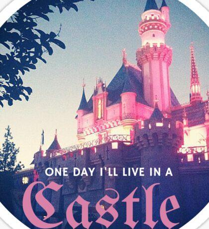 Magic Kingdom Castle Princess Typography Fairy  Sticker