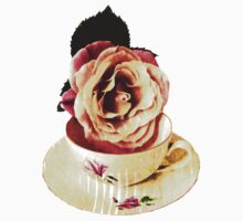 Old Cup & Vintage Rose. by Vitta