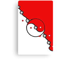 Poke Ball Yin and Yang Canvas Print
