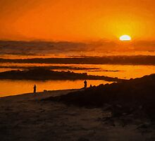 South Beach Sunset (ED1) by Ray Warren