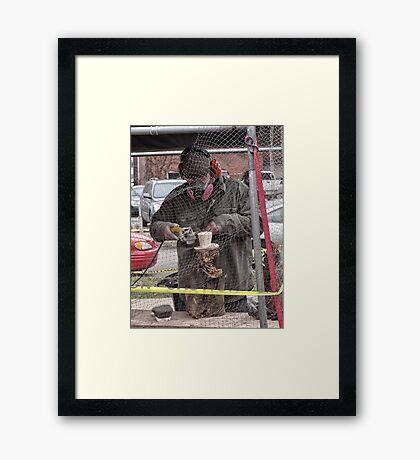 groundhog sculpture Framed Print