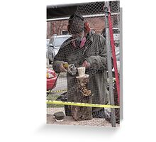groundhog sculpture Greeting Card