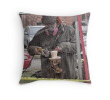groundhog sculpture Throw Pillow