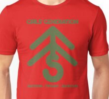 Girls' Generation TaeTiSeo Christmas Tree Logo - Green Unisex T-Shirt