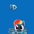 Rainbow Dash iPhone Case by tychilcote