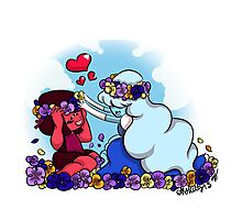 Ruby and Sapphire - Flower Crown Photographic Print