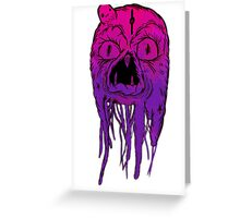 Squid Face Greeting Card