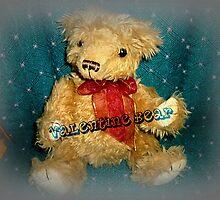 Cute, Cuddly, Valentine Bear by EdsMum
