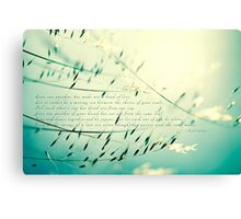Love one another... Canvas Print