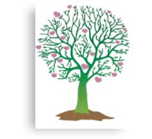 LOVE TREE beautiful oak with love hearts Canvas Print