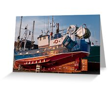 Fish trawler Greeting Card