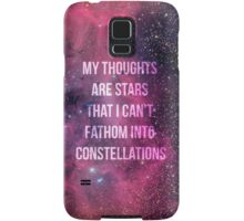 My Thoughts Are Stars Samsung Galaxy Case/Skin