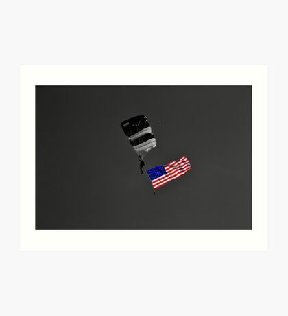 Air Show Selective Coloring Flag Art Print