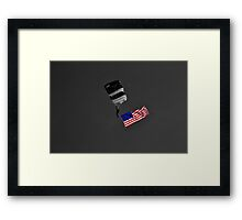 Air Show Selective Coloring Flag Framed Print