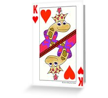 Smiling Snake King of Hearts Greeting Card