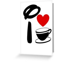 I Heart Tea Cups (Inverted)  Greeting Card