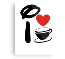 I Heart Tea Cups Metal Print