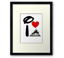 I Heart Space Mountain (Inverted) Framed Print