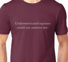 Undomesticated Equines 4 Light Grey Unisex T-Shirt