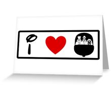I Heart Haunted Mansion (Classic Logo) Greeting Card