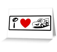 I Heart Cars Land (Classic Logo) (Inverted) Greeting Card