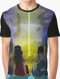 Korrasami with End Credits Graphic T-Shirt
