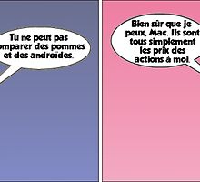 dessin comique de apple et android by Binary-Options