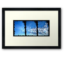 ©HCS-DA Horizon Ink Clouds Framed Print
