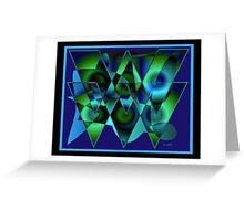 Bluetriangles Greeting Card