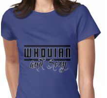 Whovian and Sexy Womens Fitted T-Shirt