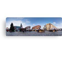 Doma square panorama, Riga, Latvia in Christmas Canvas Print