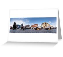 Doma square panorama, Riga, Latvia in Christmas Greeting Card