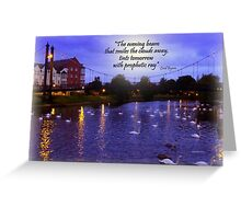 EVENING GATHERING Greeting Card