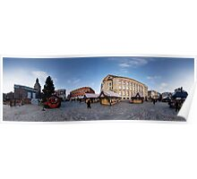 Doma square panorama, Riga, Latvia in Christmas Poster