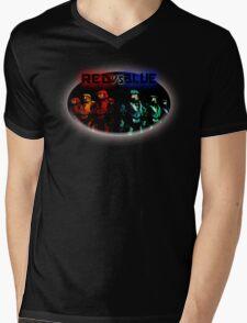 Red Vs Blue Mens V-Neck T-Shirt