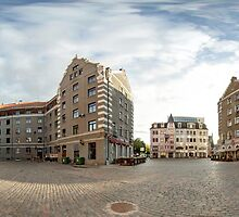 St. Peter's Church panorama, Riga, Latvia by paulsrphoto