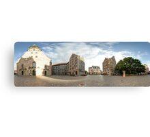 St. Peter's Church panorama, Riga, Latvia Canvas Print