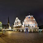 BLACKHEADS HOUSE PANORAMA, RIGA, LATVIA by paulsrphoto
