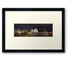 BLACKHEADS HOUSE PANORAMA, RIGA, LATVIA Framed Print