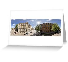 Creative district on Miera street, Riga, Latvia Greeting Card