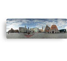 BLACKHEADS HOUSE PANORAMA, RIGA, LATVIA Canvas Print