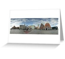 BLACKHEADS HOUSE PANORAMA, RIGA, LATVIA Greeting Card