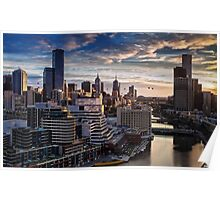 Ballooning Over Melbourne Poster