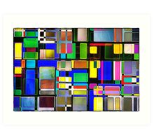 Stained Glass Window II Multi-Coloured Abstract Art Print