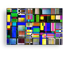 Stained Glass Window II Multi-Coloured Abstract Canvas Print