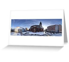 Doma square panorama, Riga, Latvia Greeting Card