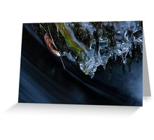 Ice Sculptures Over Rushing Water Greeting Card