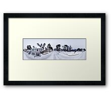 Jomas street panorama in winter, Jurmala, Riga, Latvia Framed Print